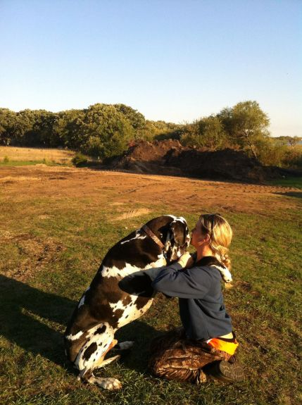 Rio and I at our land up north, he loves to hug like this- one of my favorite pics